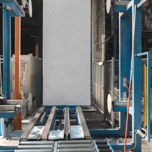Producción de bloques de EPS